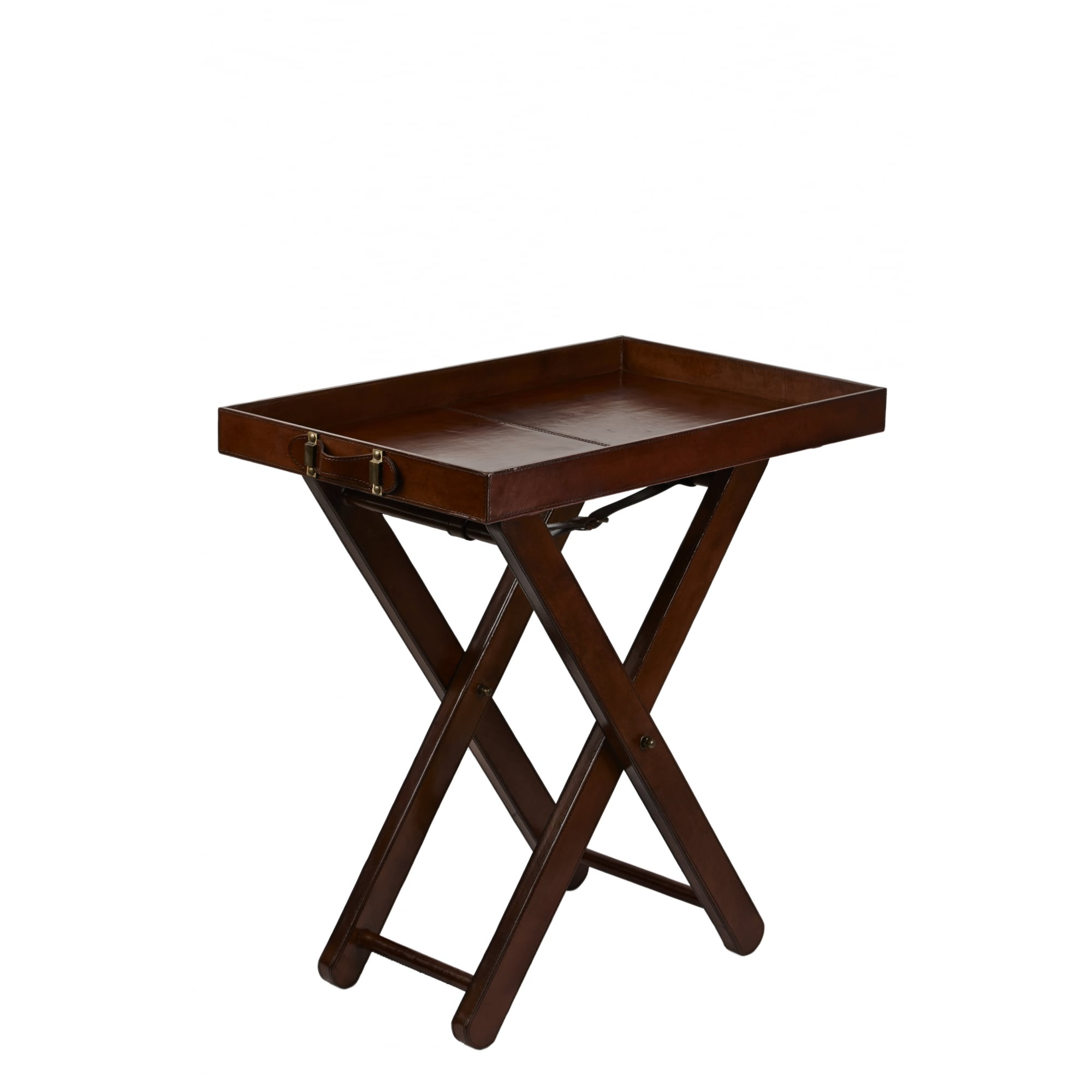 6845aed972 Rangpur Leather Butlers Tray With Legs