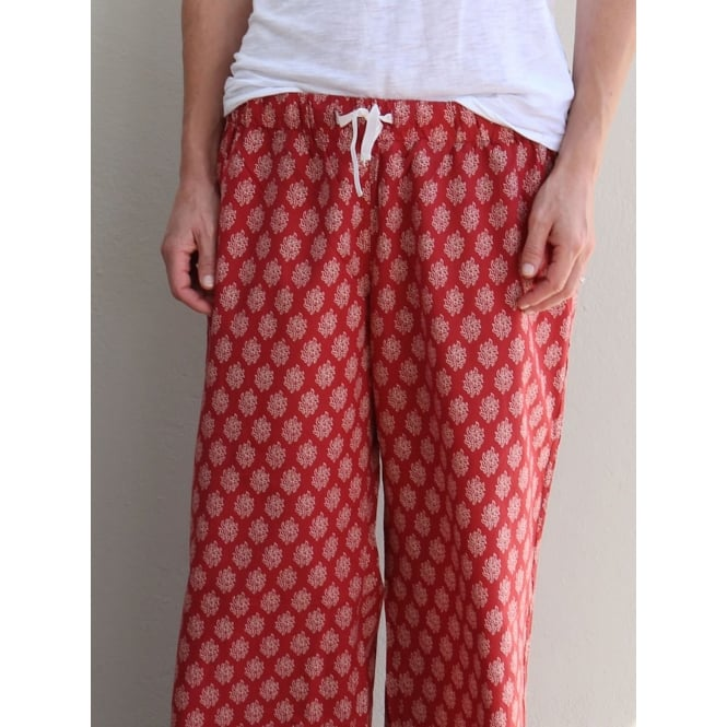 Red 100% Hindi Pyjama Pant in Gift Bag