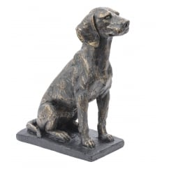 Sitting Hound Sculpture