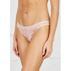 Ellie Leaping Pale Pink Leopard Print Silk & Lace Briefs